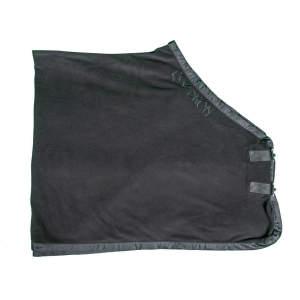 Fleecedecke in schwarz