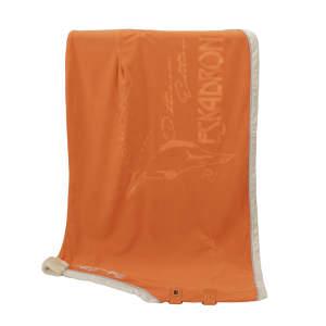 Abschwitzdecke Fleece Widebinding Platinum in vermillion-orange