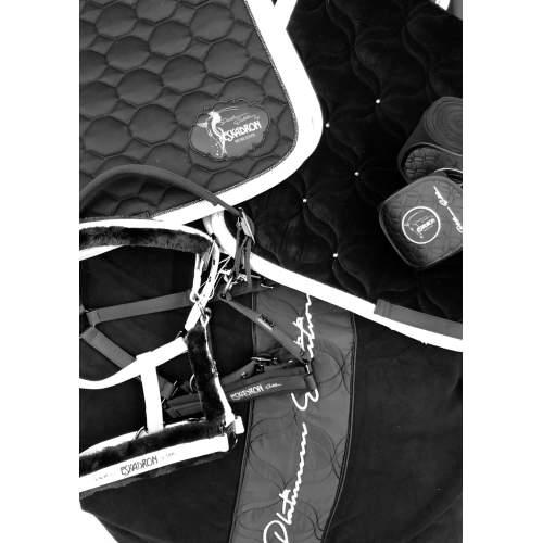 Eskadron - Abschwitzdecke Platinum Fleece -limited edition- in black