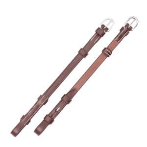 Backenstücke in braun/creme/silber