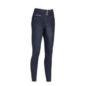 Reithose Damen Candela McCrown Jeans HW20 mit Vollbesatz in blau
