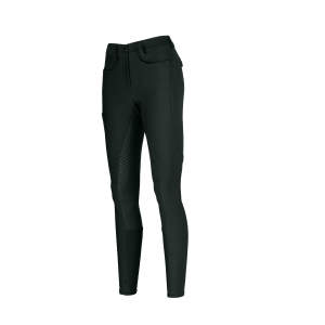 Reithose Damen Laure Vollgrip in dark green