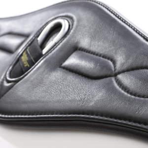 Softleder-Langgurt Comfort in schwarz