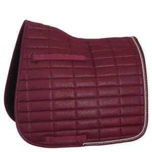Schabracke Glamour Chic Dressur in burgundy