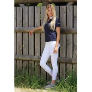 Damenreithose Kessi mit Silikon Kniebesatz E-Tec in white