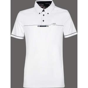Herren-Turniershirt Linden, kurzarm in white