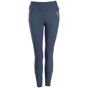 Damenreitleggings Katja, mit Vollgrip, E-Tec in blue
