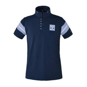 Herren-Poloshirt Javier in blue mit navy