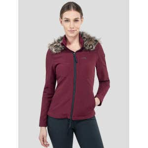 Damensoftshelljacke Clemantis in bordeaux