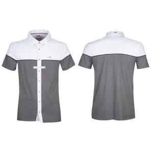Herren-Turniershirt Dedalo in melange grey