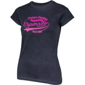 Damen-T-Shirt Vintage in schwarz