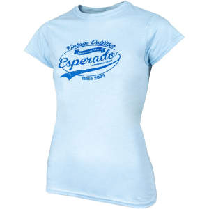 Damen-T-Shirt Vintage in hellblau