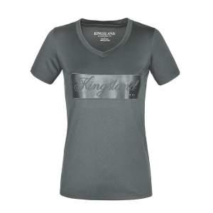 T-Shirt Damen KLluna Satin Print in grün