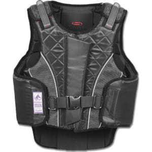 Sicherheitsweste P11 flexible mit RV für Erwachsene in schwarz/grau