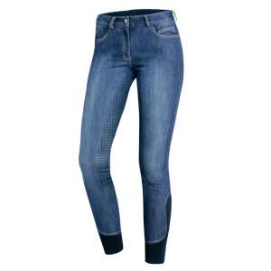 Reithose Damen Delphi Jeans FS mit Voll-Grip in jeans blue