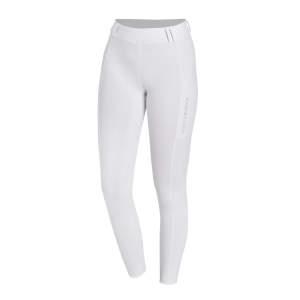 Reitleggings Damen Glossy Style in optical white