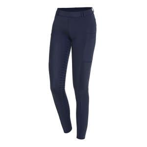 Reitleggings Damen Air Pocket in dark blue