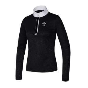 Langärmliges Turniershirt Damen KLtyra in black