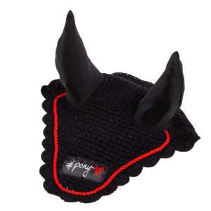 Fliegenohren Baumwolle Ponylove in schwarz/rot