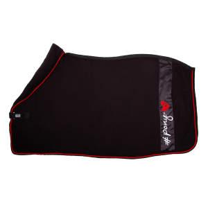 Fleecedecke Ponylove in schwarz/rot
