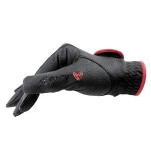 Reithandschuhe Ponylove mit Glitzerverschluss in schwarz/rot