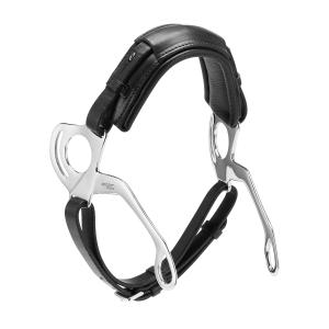 Hackamore Leder, Edelstahl Seitenteile mit anatomisch geformtem Nasenpolster
