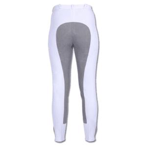 Reithose Damen Fun Classic mit Vollbesatz in weiß/grau