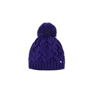 Mütze Garnbommel in in violett