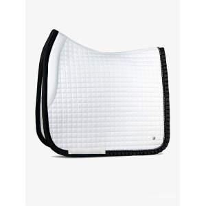 Dressurschabracke Ruffle in weiß/schwarz
