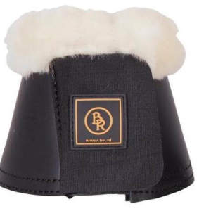 Hufglocken Sheepskin in schwarz