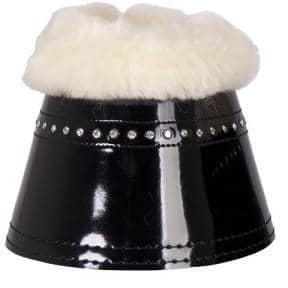 B&R - Hufglocken Glamour Lacquer Sheepskin in schwarz