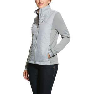 Jacke Damen Hybrid Insulated in grau