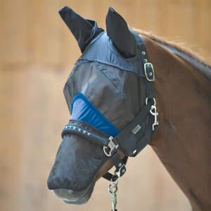 Fliegenmaske Fine mit Nasenteil in schwarz-royal