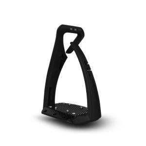 Sicherheitssteigbügel Soft Up Pro + in schwarz/schwarz