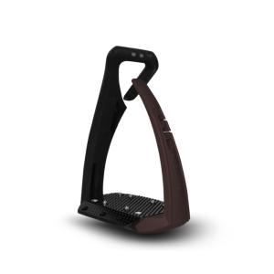 Sicherheitssteigbügel Soft Up Pro + in braun/schwarz