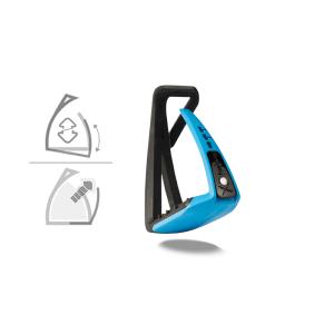 Sicherheitssteigbügel Soft Up Lite in schwarz/blau