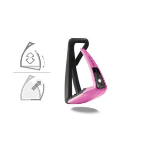 Sicherheitssteigbügel Soft Up Lite in schwarz/pink