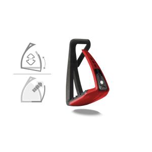Sicherheitssteigbügel Soft Up Lite in schwarz/rot