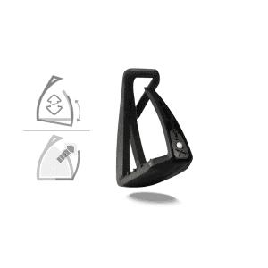 Sicherheitssteigbügel Soft Up Lite in schwarz/schwarz