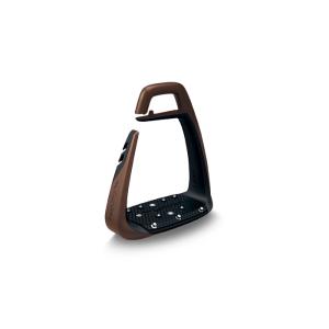 Sicherheitssteigbügel Soft Up Classic in braun/schwarz