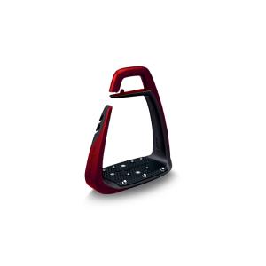 Sicherheitssteigbügel Soft Up Classic Pearl in rot/schwarz