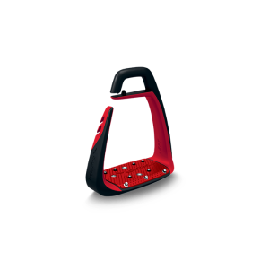 Sicherheitssteigbügel Soft Up Classic in schwarz/rot