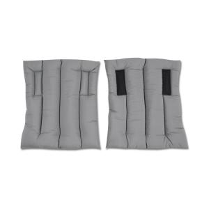 Ersatz-Bandagierkissen für Stallgamasche, Paar in grau