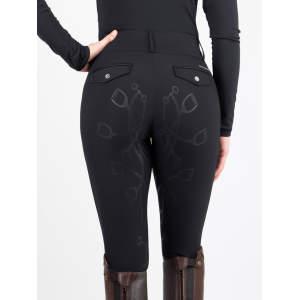 Reithose Damen Zoe mit Voll-Grip in schwarz