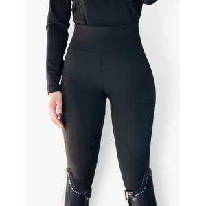 Reitleggings Damen Taylor mit Voll-Grip in schwarz