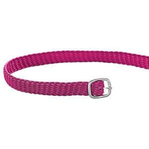 Sporenriemen Perlon 45cm in pink/silber