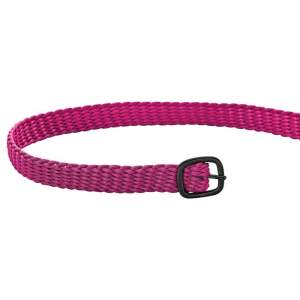 Sporenriemen Perlon 45cm in pink/schwarz