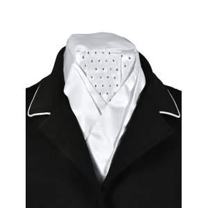 Plastron Fashion in weiß mit Nieten