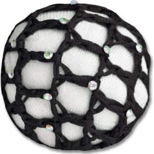 Haarnetze mit Glitzersteinchen in schwarz