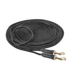 Doppellonge in schwarz, Größe: 18 m